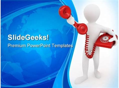 telephone receiver communication powerpoint templates