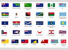 Design elements Oceania flags Country Flag Oceania
