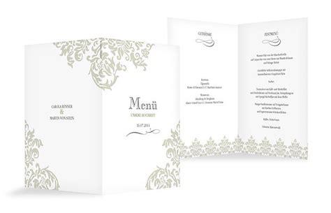 menuekarte hochzeit prachtvoll