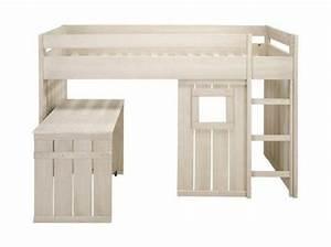 Lit Cabane Mezzanine : lit cabane enfant chambre n 2 pinterest lit cabane lits et lits mezzanine ~ Melissatoandfro.com Idées de Décoration