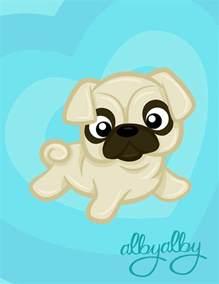 Cute Pug Cartoon Drawing