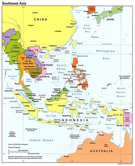 map  southeast asia region maps  asia regional