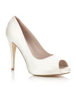 peep toe wedding shoes harriet wilde satin peep toe bridal shoes eawedding