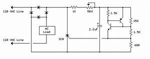 120 Vac Lamp Dimmer Circuit Diagram And Instructions