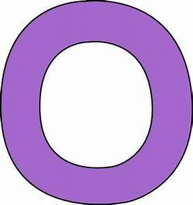 Purple Letter O Clip Art - Purple Letter O Image