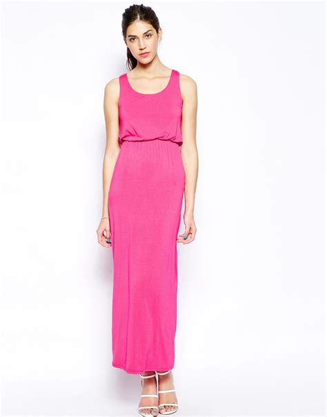 solid color dresses ax maxi dress in solid colour in pink lyst