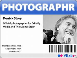 make your own photographer39s id badge the digital story With photographer id card template