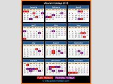 Mizoram Holidays 2018