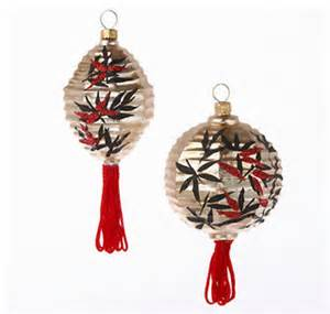 asian lantern ornaments asian christmas ornaments by gump s