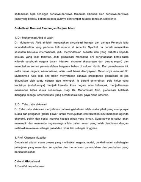 Globalisasi menurut islam dr1-yusof-al qardawi