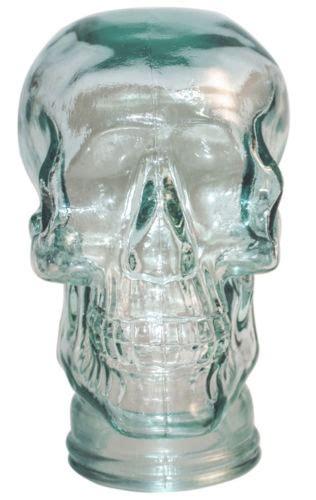 clear glass skull display heads uk polystyrene head