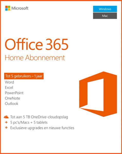 Office 365 Home Subscription by Office 365 Home 30 Discount 163 62 99