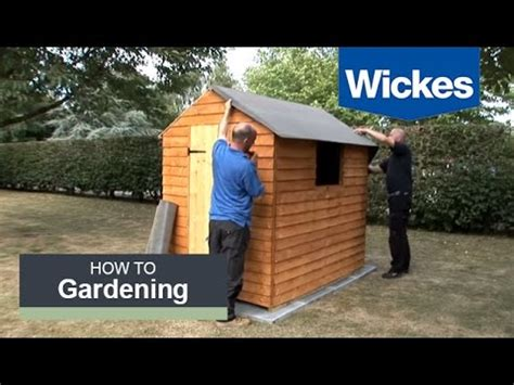 felt  shed roof  wickes youtube