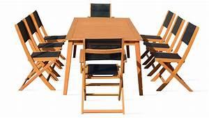 Salon De Jardin Pliant : stunning table de jardin pliante en bois avec chaises ~ Dailycaller-alerts.com Idées de Décoration