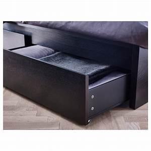 Lit Haut Ikea : malm cadre de lit haut 2 rangements brun noir 90 x 200 cm ikea ~ Teatrodelosmanantiales.com Idées de Décoration