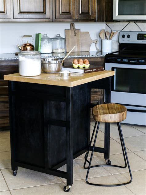 kitchen island on wheels how to build a diy kitchen island on wheels hgtv