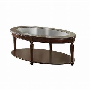 venetian worldwide granvia oval coffee table dark cherry With best finish for coffee table
