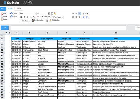 kpi tracking spreadsheet template tracking spreadshee kpi