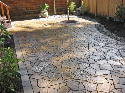 bloombety patterned pea gravel patio ideas pea gravel