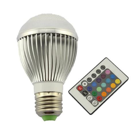 led remote color changing light bulb cool stuff dude