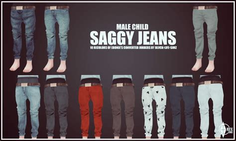 Women Bedroom Colors by Child Male Saggy Jeans Recolors Onyx Sims