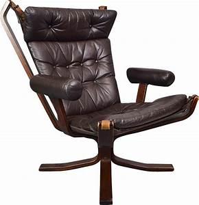 Fauteuil Cuir Marron Vintage : fauteuil pivotant vintage en cuir marron de sigurd ressell 1970 design market ~ Teatrodelosmanantiales.com Idées de Décoration