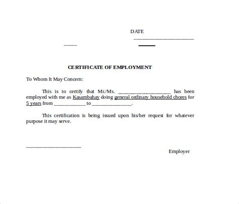word certificate template  samples examples