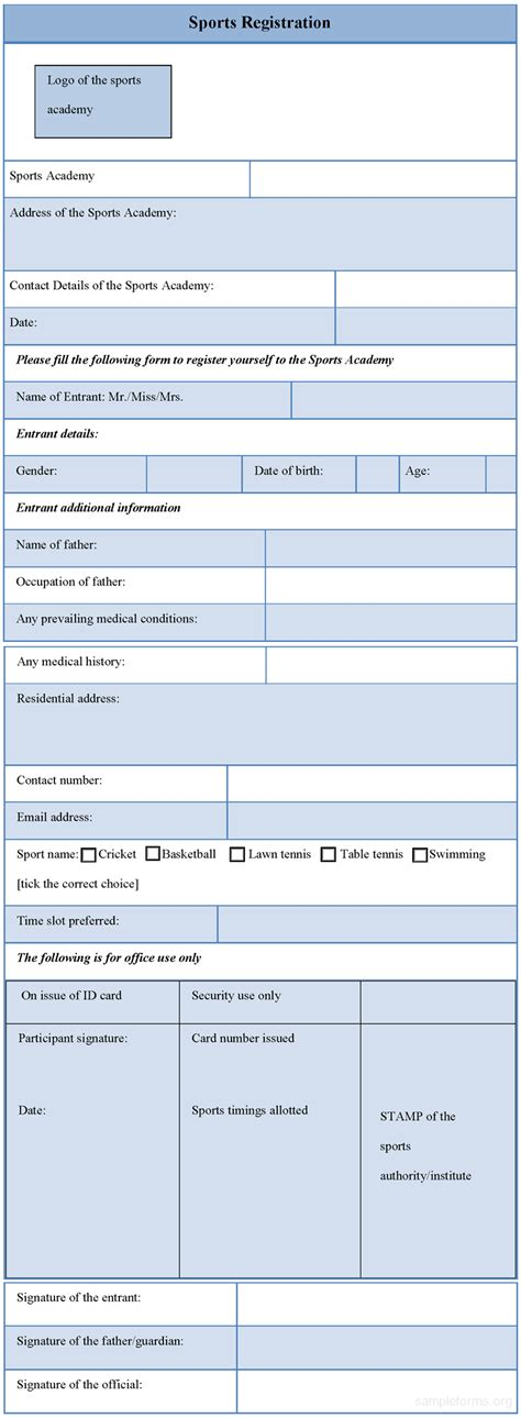 Sports Registration Form  Sample Forms. Notes Template Word. Sample Of Cash Flow Statement For Excel Template. Pleading Paper In Word Template. Brochure Templates Google Drive. Pictures Of Cover Letter For Resumes Template. Printed Birthday Party Invitations Template. Kids Gift Certificate Template. Youth Counselor Cover Letters Template