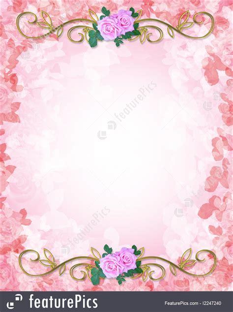 celebration wedding invitation template roses stock
