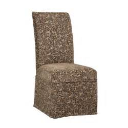 skirted parsons chair slipcovers powell raised brown chenille leaves skirted parsons chair