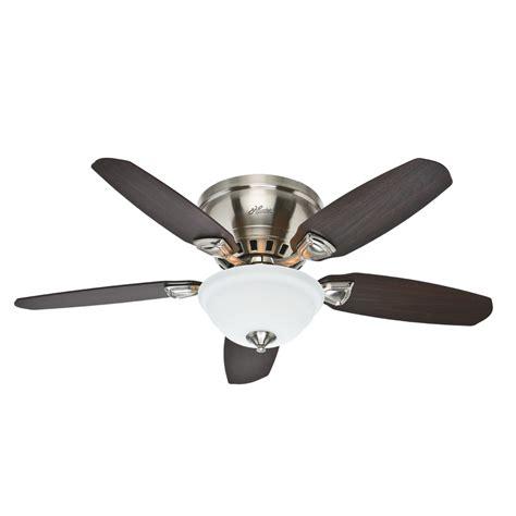 flush mount fan with light shop hunter louden 46 in brushed nickel indoor flush mount