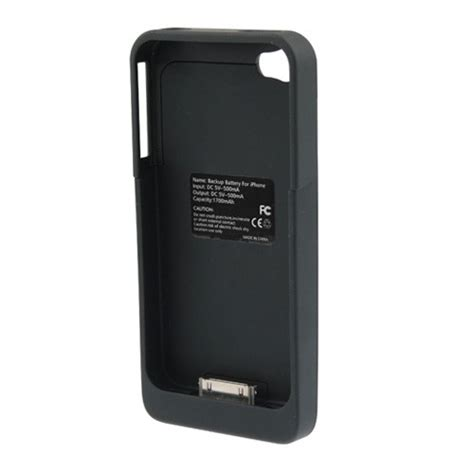 iphone charger box 1700mah backup battery charger for apple iphone 4 4s 5571