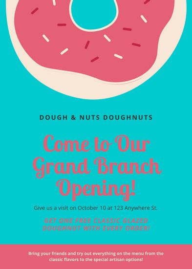 customize  grand opening flyer templates  canva