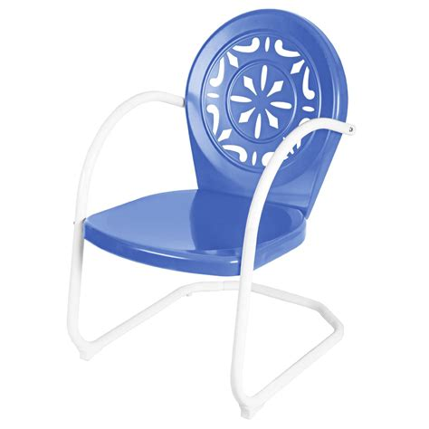 Retro Chair Kmart by Garden Oasis Retro Steel Clam Chair Blue Outdoor