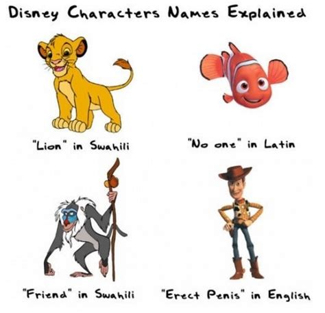 Funny Character Memes - a couple disney character names explained funny pictures quotes pics photos images videos