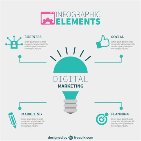 Free Digital Marketing by Digital Marketing Infographic Elements Vector Free