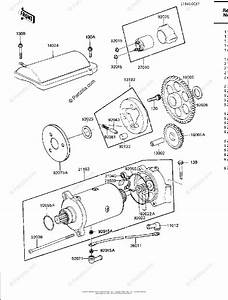 Kawasaki Motorcycle 1983 Oem Parts Diagram For Starter