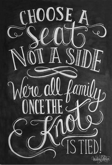 Choose A Seat Not A Side Print - Wedding Ceremony Sign