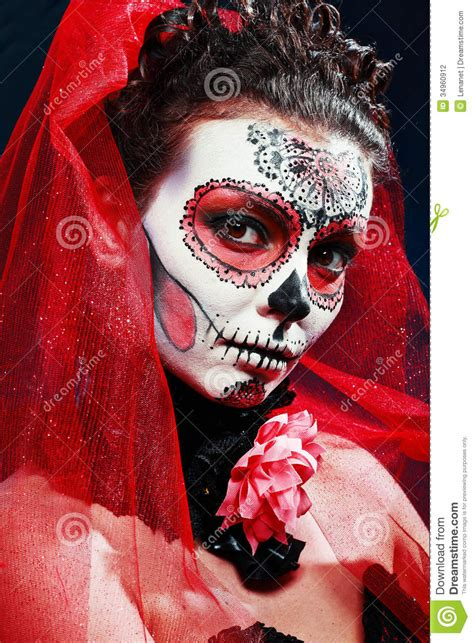 halloween   sugar skull stock photo image
