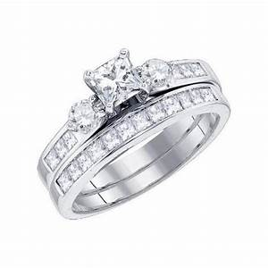 charming inexpensive diamond wedding ring set 2 carat With princess cut wedding rings 2 carat