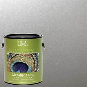 modern masters 1 gal silver metallic interior exterior With home depot metallic furniture paint