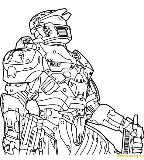 halo 5 coloring pages halo coloring coloring page free coloring pages