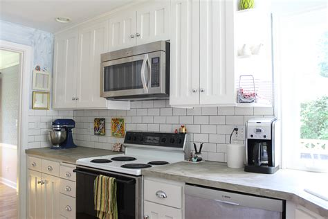 kitchen subway tile backsplash  remade