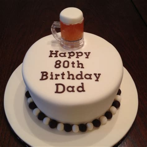 beer themed  birthday cake