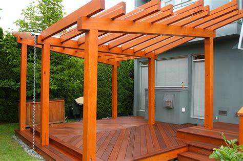 vancouver prefabricated pergola deck modern deck