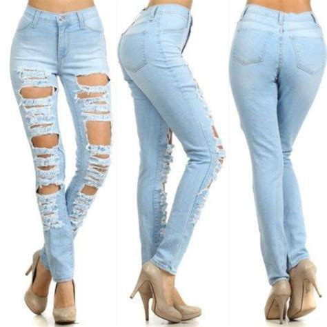 Prada Ripped Bluejeans destroyed ripped bod