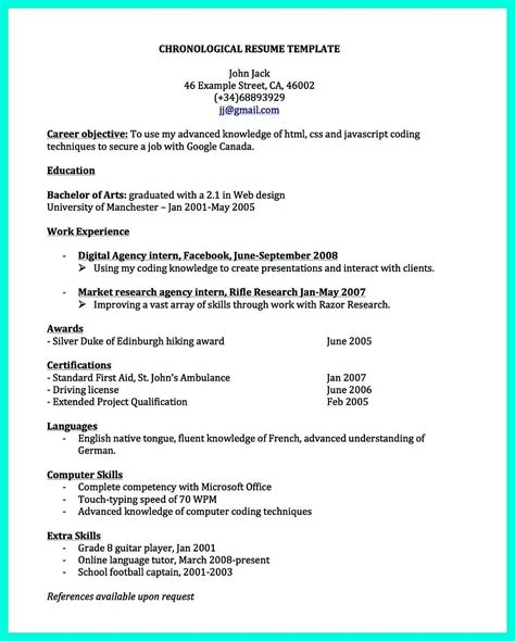 Exles Of A Great Resume by Pin On Resume Sle Template And Format Resume