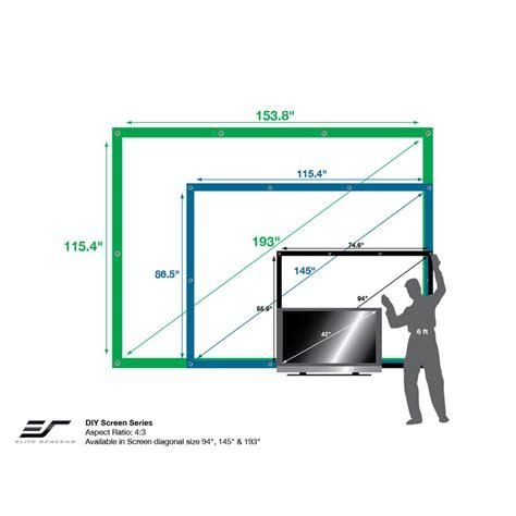 elite screens diy outdoor rear projector screens