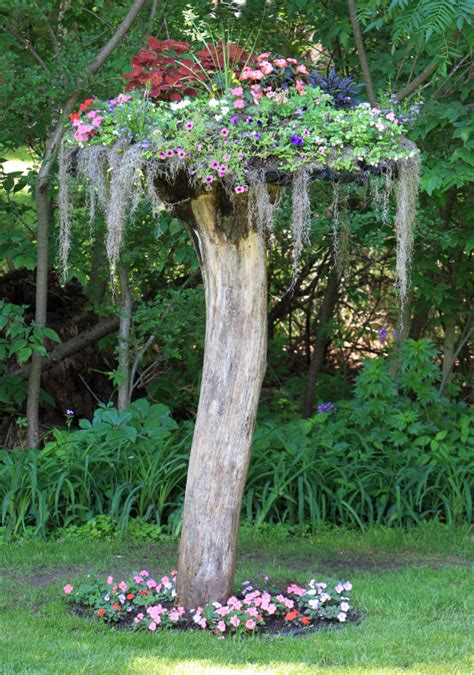 14 interesting ideas how to decorate your garden with tree - Tree Stump Decorating Ideas
