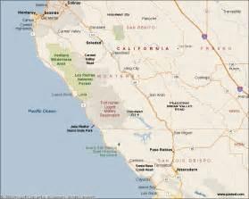 Pacific Coast Highway 1 California Map